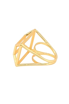 Gold plated corb ring by Malvika Vaswani