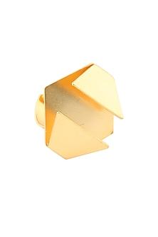 Gold plated Cordoba tapas ring by Malvika Vaswani