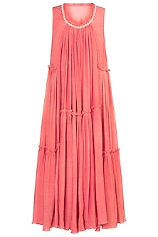 Carrot embroidered printed maxi dress