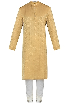 Mustard yellow kurta with pants