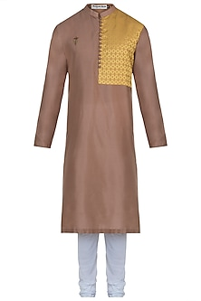 Brown kurta with pants