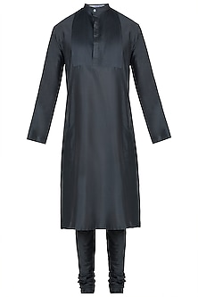 Charcoal grey kurta with pants