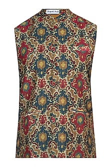 Multicolored printed nehru jacket