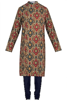 Multicolor printed kurta with pants
