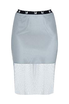 Grey slit skirt