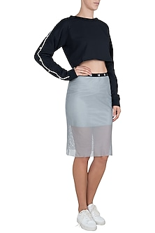Grey slit skirt by Myriad