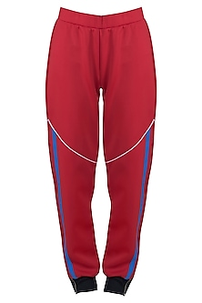 Red wide leg cut pants