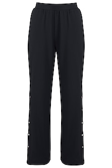 Black wide cut pants