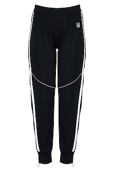 Black track pants by MYRIAD