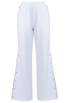 White wide cut pants