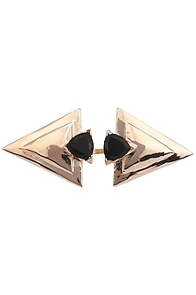 Rose Gold Finish Triangular Shaped Ring by Nepra By Neha Goel
