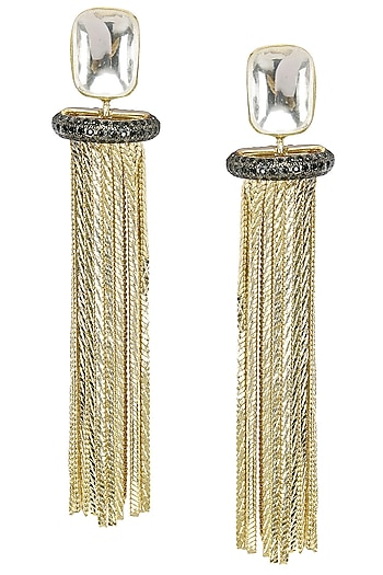 Neha Goel Plated Chain Earrings