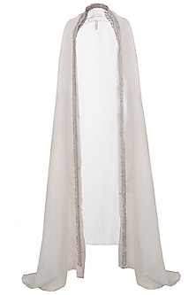 Grey Embroidered Cape