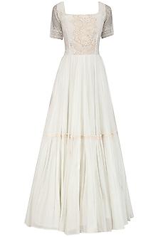 Ivory Spanish Maxi Dress