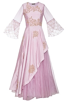 Lavender embroidered anarkali gown