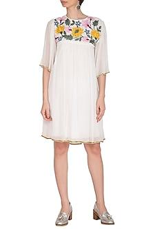 Ivory Embroidered Dress by Namrata Joshipura