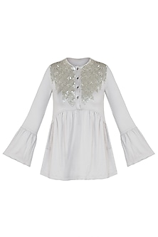 Ash Embroidered Top