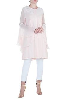 Frost Pink Sunray Tunic by Namrata Joshipura