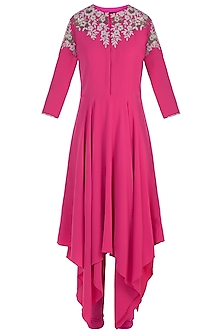 Fuschia Embroidered Kurta Set
