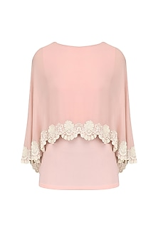 Frost Pink Scallop Cape Top