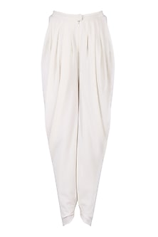 Ivory Pleated Dhoti Pants
