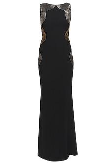 Black tidal wave gown by Namrata Joshipura