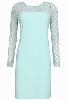 Aqua persia shift dress by Namrata Joshipura