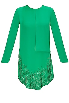 Golf Green Waffles Panel Tunic