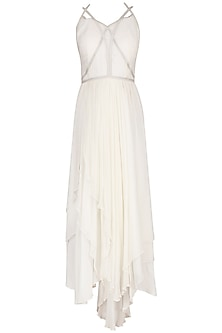 White Strappy Crossover Gown