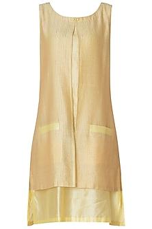 Lemon Yellow Layered Dress
