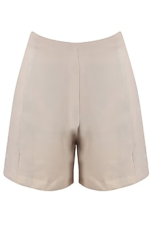 Light grey high waisted swiss shorts