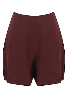 Marsala red high waisted shorts