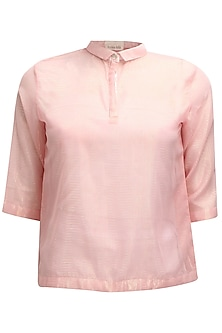 Pink PK polo style shimmer t-shirt