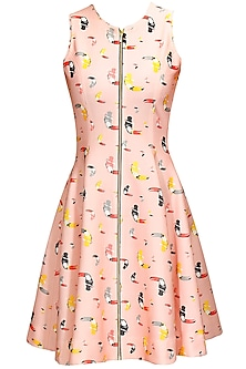 Pink Pelican Printed Zipper Dress