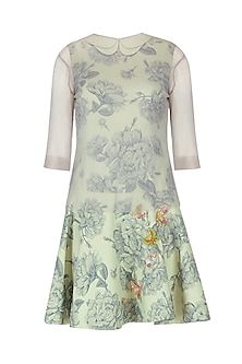 Mint Green Butterfly Embroidered Dress