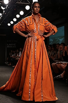 Tangerine Baadla Work Over Sized Shirt Dress