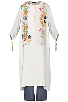 Offwhite Embroidered Tunic