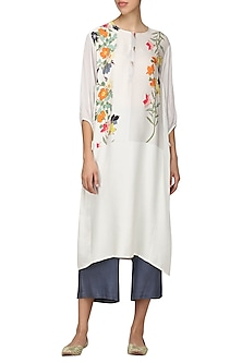 Offwhite Embroidered Tunic by Nida Mahmood