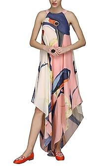 Pink Halter Neck Dress by N&S Gaia