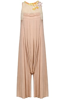 Peach Embellished Jumpsuit