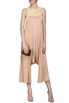 Peach Embellished Jumpsuit by N&S Gaia
