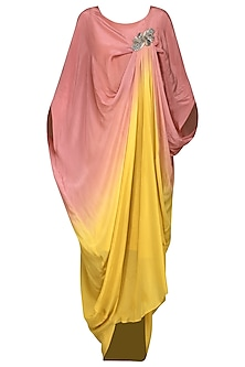 Pink and Yellow Ombre Dress