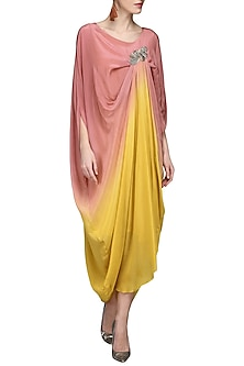 Pink and Yellow Ombre Dress by N&S Gaia