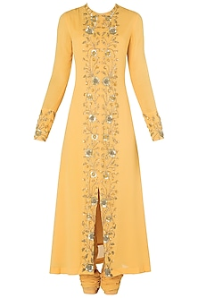 Mango Front Open Embroidered Kurta Set by Nikhil Thampi