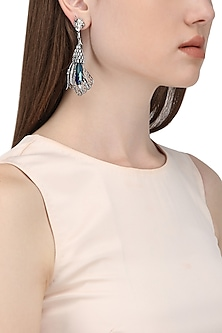 Gunmetal Plated Pinion Wing Shaped Earrings