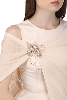 Rose Gold Plated Butterfly Brooch