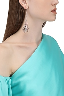 Rose Gold Plated Pinion Wing Shaped Earrings