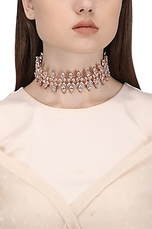 Rose Gold Plated Crystal Zircon Choker Necklace