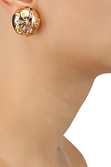 Gold Plated Instar Gold Stud Earrings