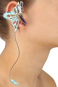 Gold Plated Papilio Couture Earcuffs
